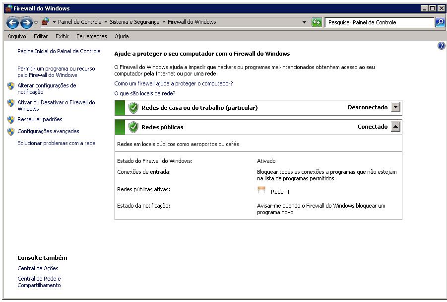 Ativar ou Desativar o Firewall do Windows