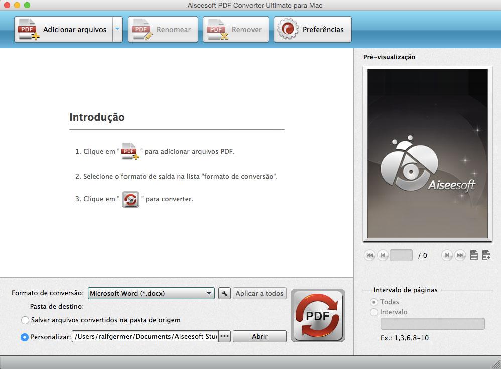 Converter PDFs em um Mac