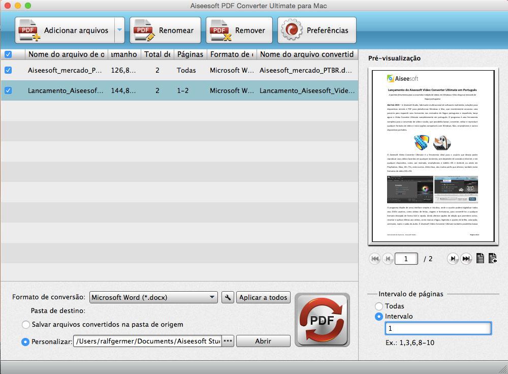 Importar arquivos PDF