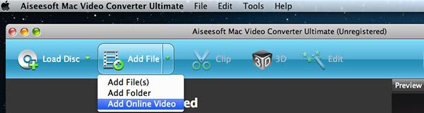 Clique em Adicionar Vídeo Online