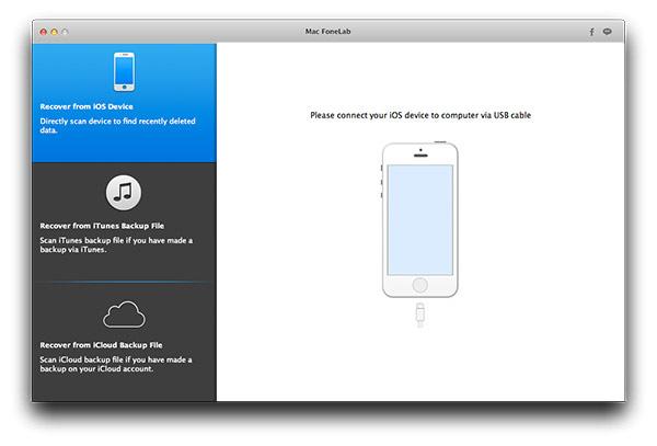 Ir al modo Recuperar de archivo de copia de seguridad de iTunes y empezar el análisis