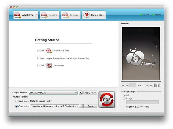 Abra o Aiseesoft em seu Mac