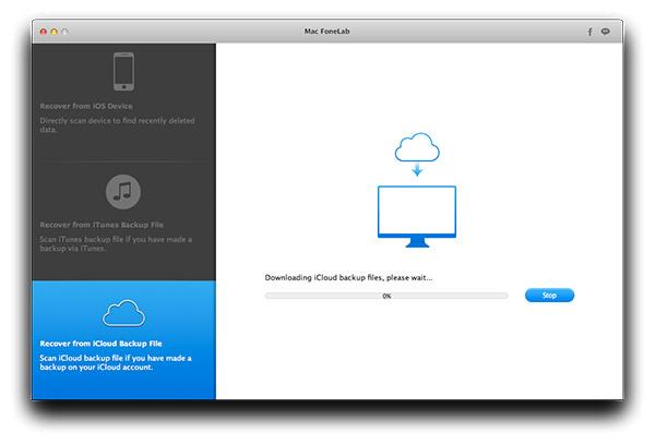 Faça o download do arquivo de backup do seu iCloud