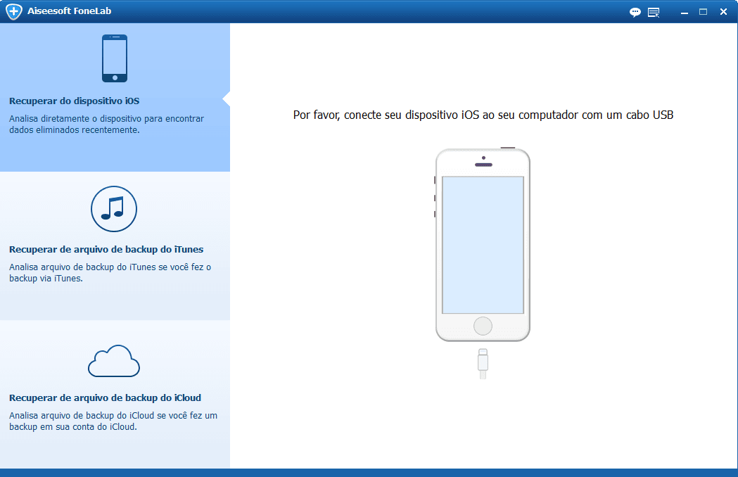 Fique no modo recuperar de dispositivo iOS