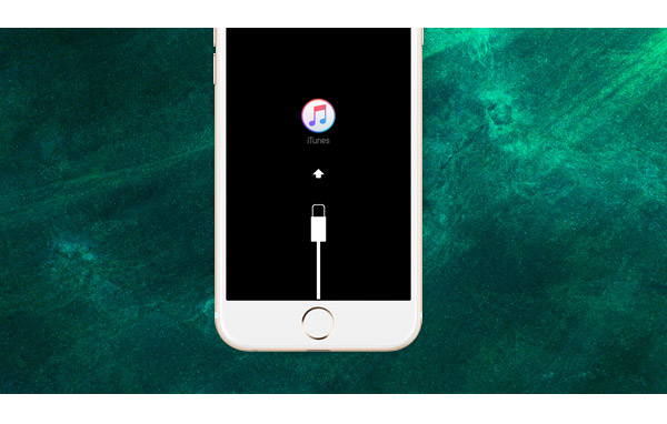 iPhone travado em modo de recuperação