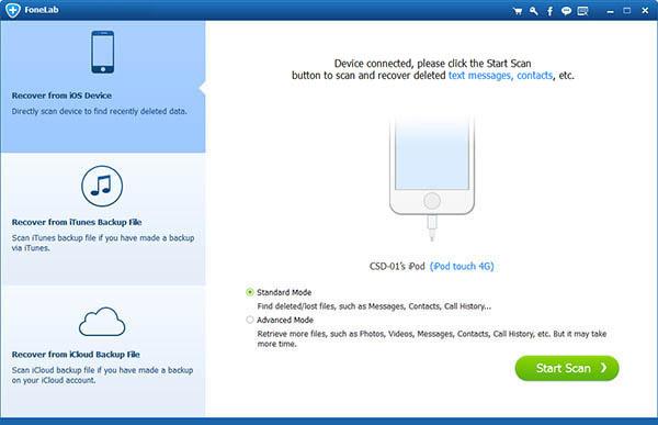 El programa reconoce su iPhone automáticamente