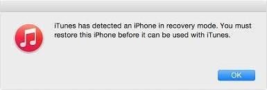 iTunes consertar iPhone travado em modo de recuperação