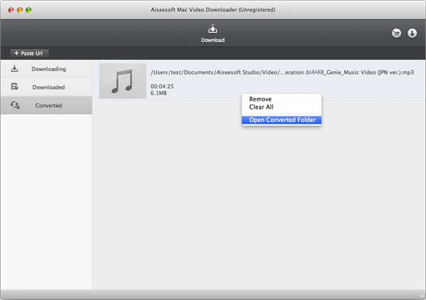 Encontre seus arquivos convertidos em MP3