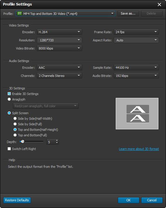 Edite as configurações de seu vídeo
