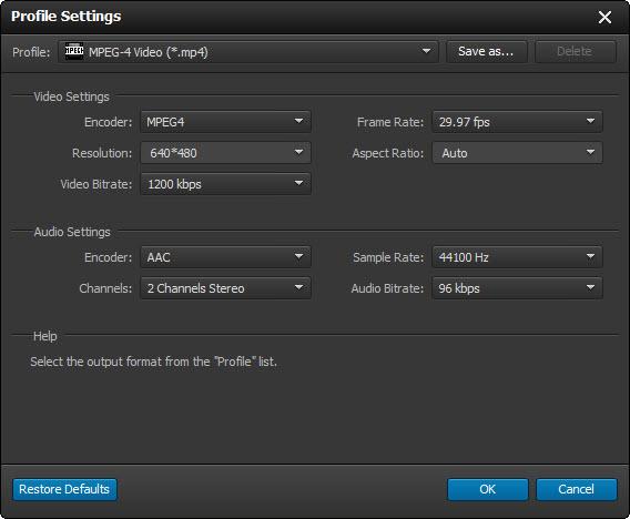Ajuste as configurações de áudio e vídeo do seu arquivo