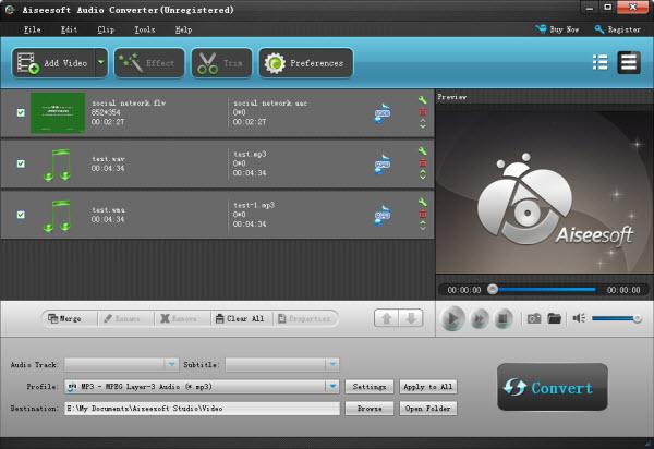 Adicione os vídeos que deseja converter ao Aiseesoft