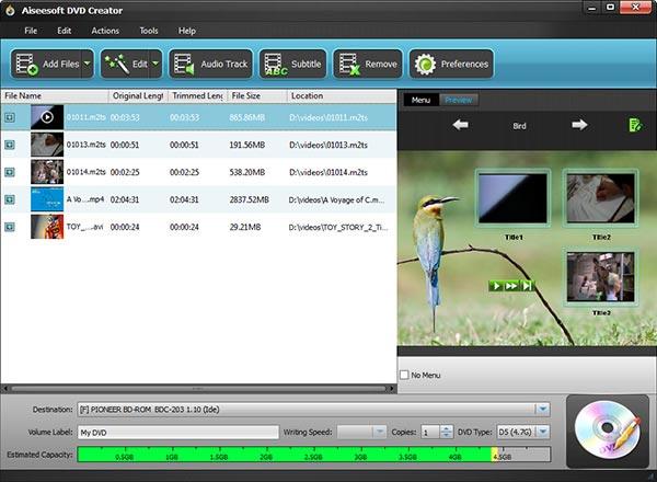 Converta e grave seus vídeos no DVD