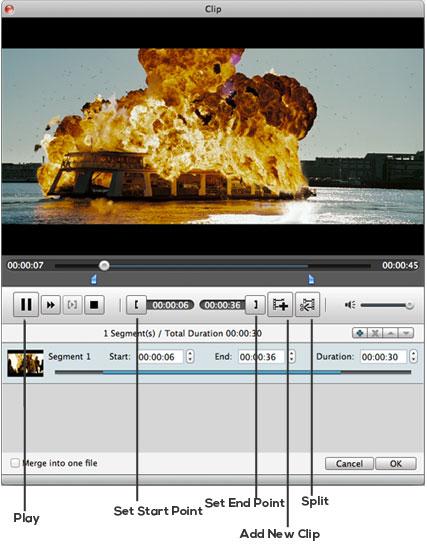 Corte a duração de seu vídeo