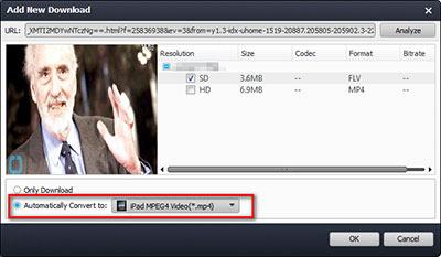 Selecione o formato que deseja para seus vídeos