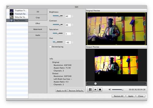 Edite seu vídeo como desejar