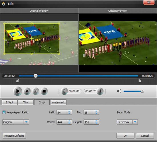 Ajuste a proporção de tela de seu vídeo