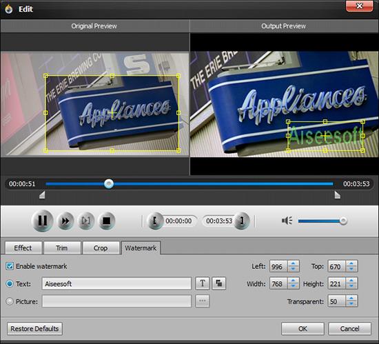 Edite os efeitos visuais de seu vídeo