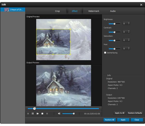 Adicione efeitos ao seu vídeo como desejar para editá-lo com o Video Converter Ultimate