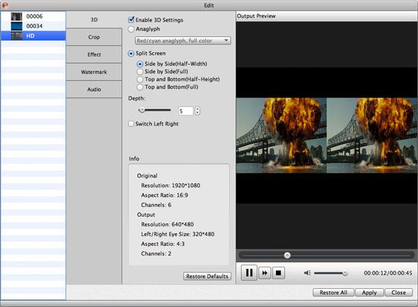 Adicione efeito 3D em seu vídeo