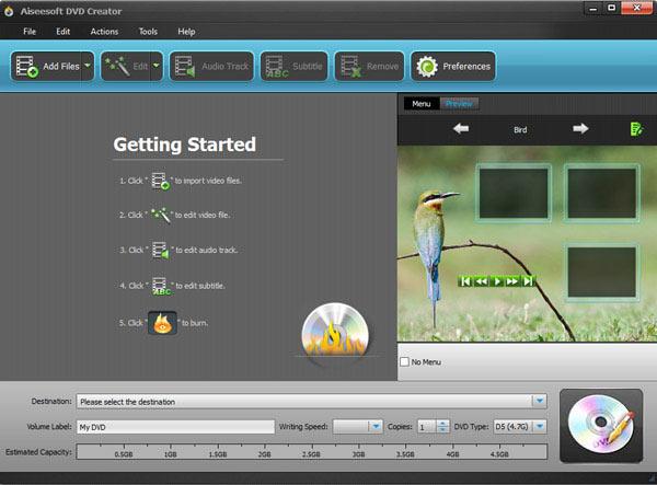 Abra o Aiseesoft DVD Creator