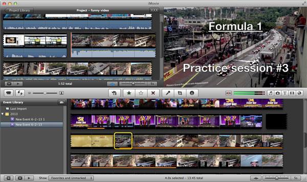 Edite seu vídeo no iMovie após a conversão