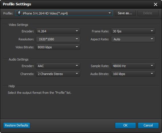 Ajuste as configurações de áudio e vídeo de seus arquivos