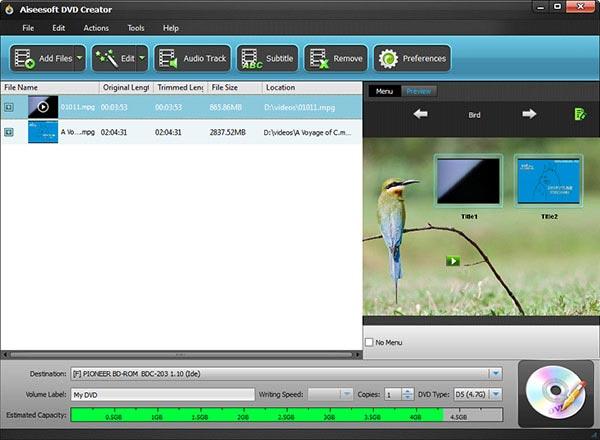 Abra seus vídeos MPG no programa
