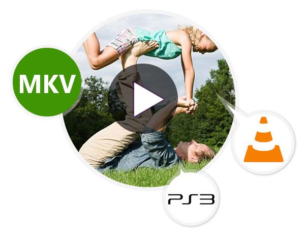 Reproduza arquivos MKV no VLC e em um PS3