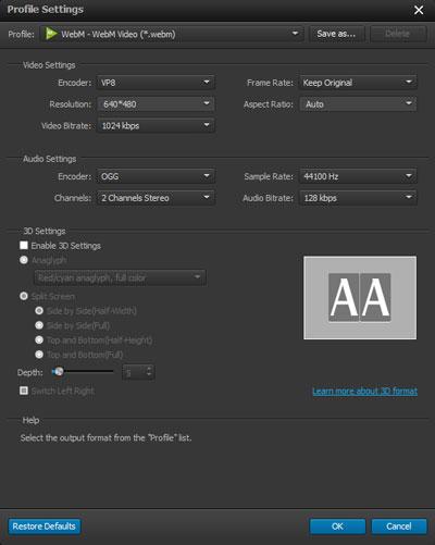 Ajuste as configurações de seu arquivo
