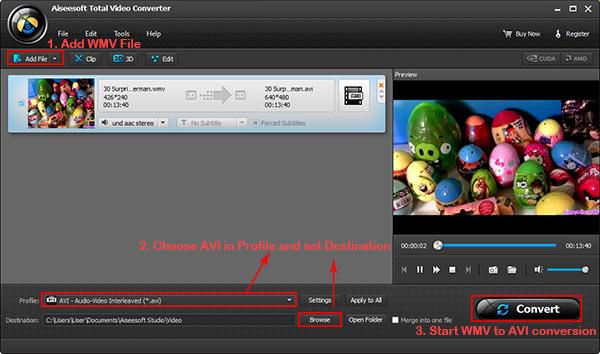 Siga os passos da imagem para converter seu arquivo