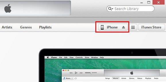 Abra o iTunes e conecte seu iPhone