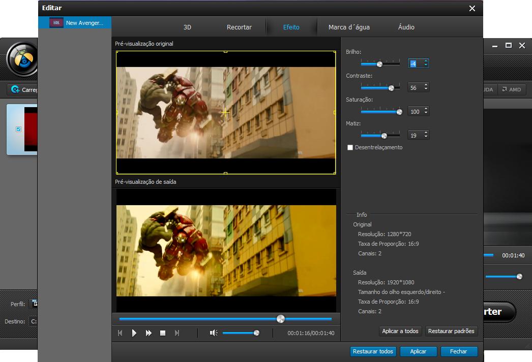 Entre na interface de edição de vídeo do programa