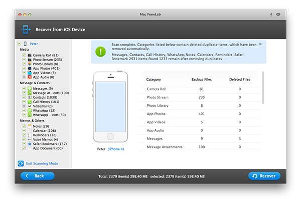 Faça a análise do seu iPhone