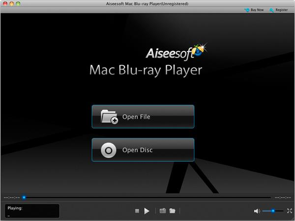 Abra o Blu-ray Player