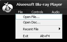 Selecione Abrir arquivo no menu Arquivo