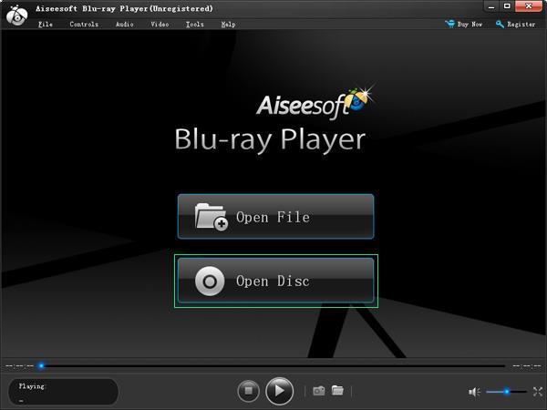 Interface principal do Blu-ray Player