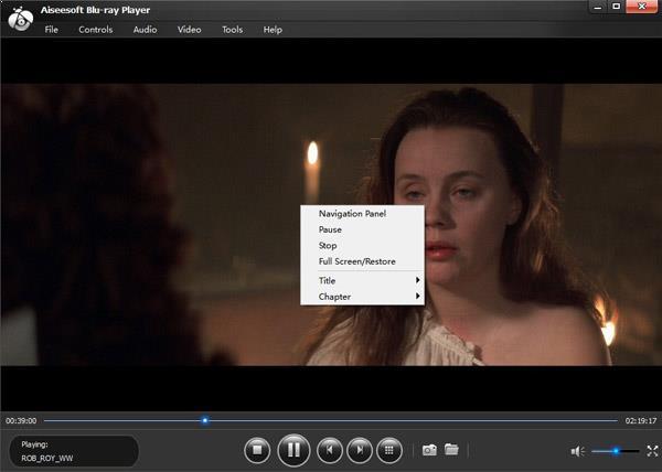 Clique com o botão direito no seu filme