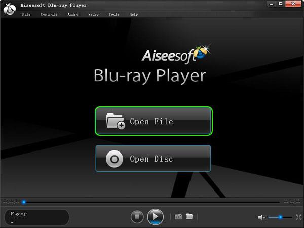 Abra o Blu-ray Player