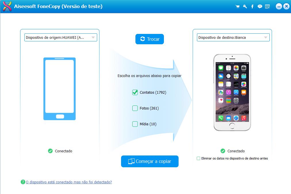 Transferir fotos do android para iphone