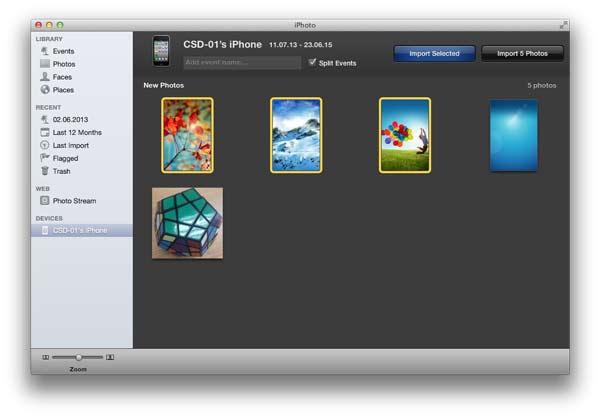 Siga as instruções para enviar fotos do iPhone para o Mac com o iPhoto