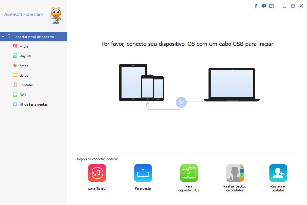 Aiseesoft FoneTrans - como transferir musica de iphone para outro