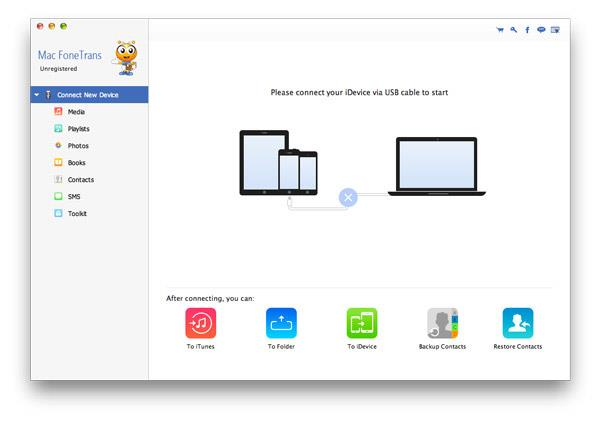 Abra o FoneTrans em seu Mac