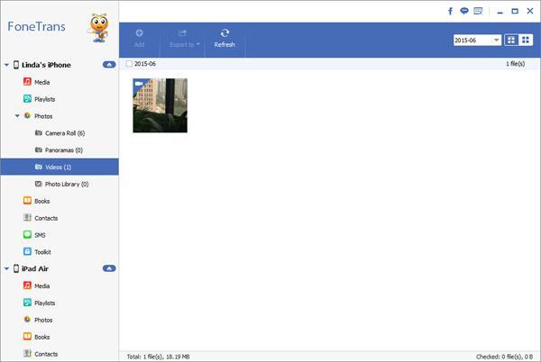 Adicione os vídeos que deseja transferir para o iPad