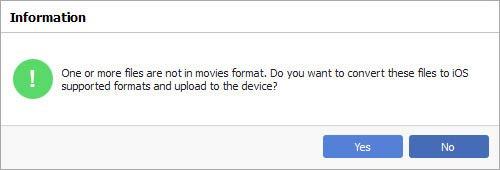 Converta os vídeos, se necessário