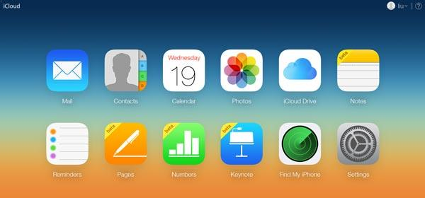 Entre em sua conta do iCloud