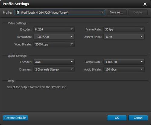 Ajuste as configurações de seus vídeos