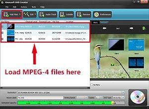 Abra o programa e importe seus arquivos MPEG-4