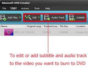 Adicione faixas de áudio e legendas