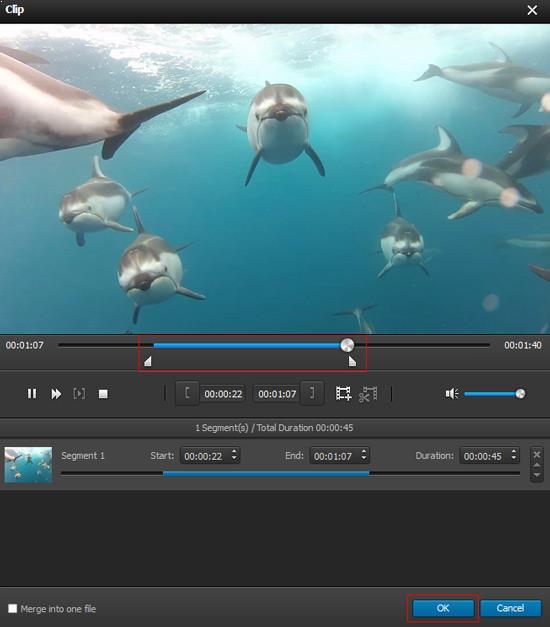 Cortar a duração do vídeo