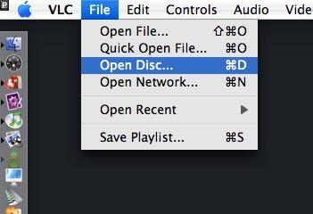 Assistir um DVD com o VLC no Mac